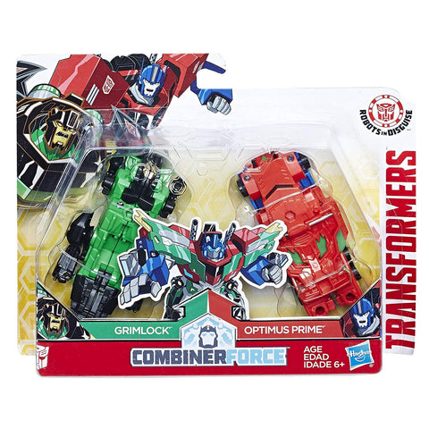 Transformers Robots In Disguise Combiner Force Grimlock Optimus Prime Primelock Crash Combiner Box Package