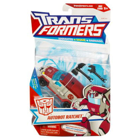 Transformers Animated Autobot Ratchet Deluxe Box Package Front