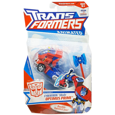 Transformers Animated Deluxe Cybertron Mode Optimus Prime Package