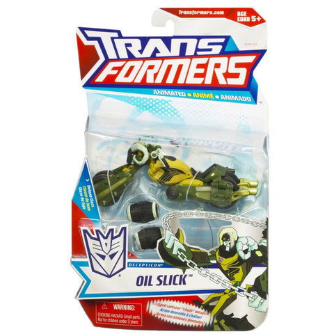 Transformers Animated Deluxe Decepticon Oil Slick Package