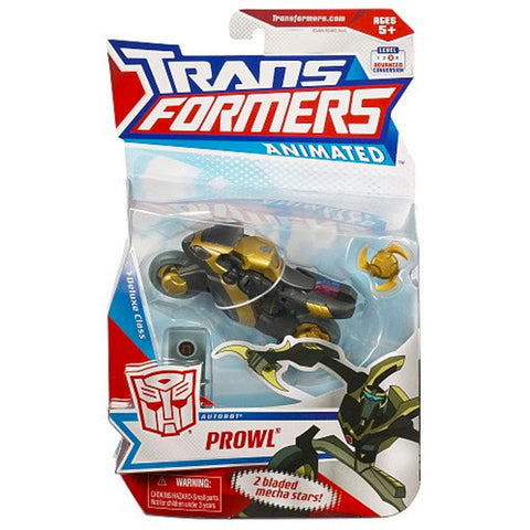 Transformers Animated Deluxe Prowl Hasbro USA box package front