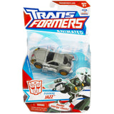 Transformers Animated Freeway Jazz Silver Deluxe package box card