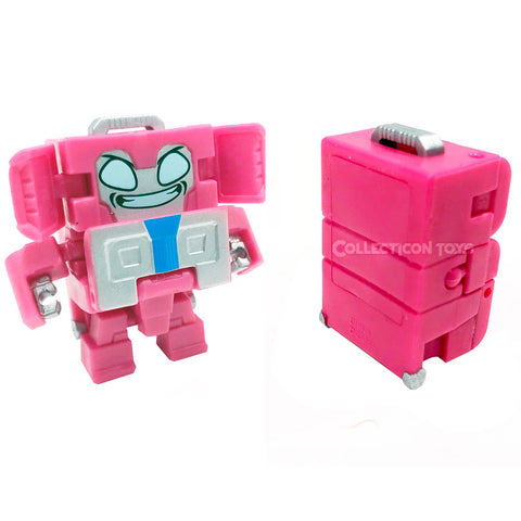 Transformers Botbots Series 5 Frequent Flyers Tidy Trunksky pink puggage suitcase toy