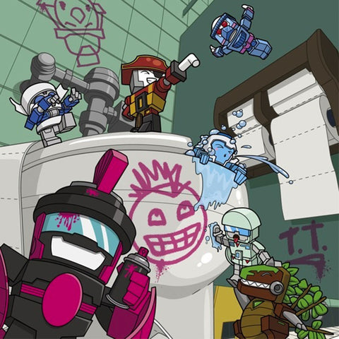 Transformers Botbots Series 1 Toilet Troop complete set Artwork
