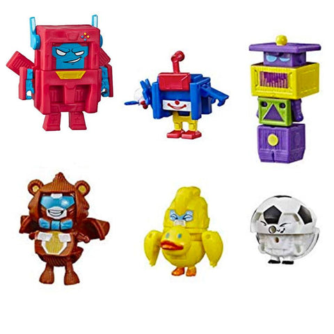 Transformers Botbots Series  3 Playroom Posse Complete Set 6 Robot Toys