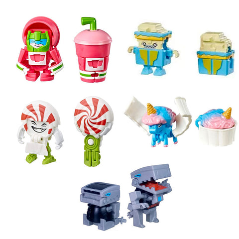 Transformers Botbots Series 2 Sugar Shocks Complete set of 5 mocklate lolly mints javasaurus rex Toys