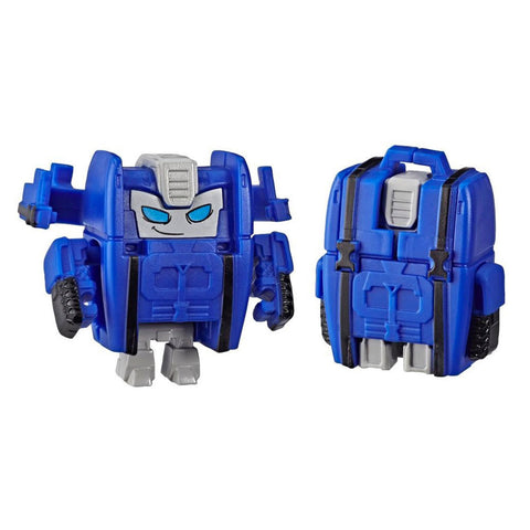 Transformers Botbots Series 3 Jock Squad Rink Stink Blue Backpack robot toy