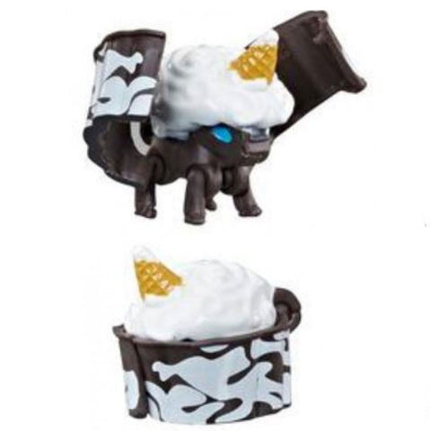 Transformers Botbots Series 3 Sugar Shocks Sugar Saddle Black Unicorn Cupcake Toy