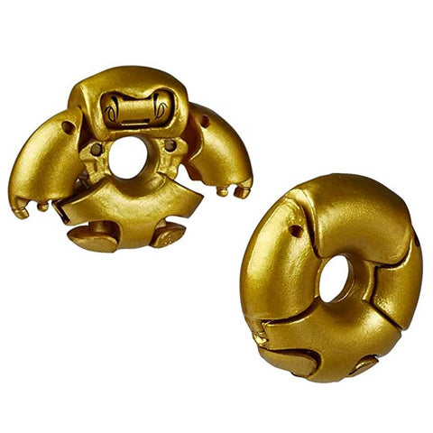 Transformers Botbots Series 4 Winner's Circle Goldenberry Duhnut Gold Donut Robot Toy