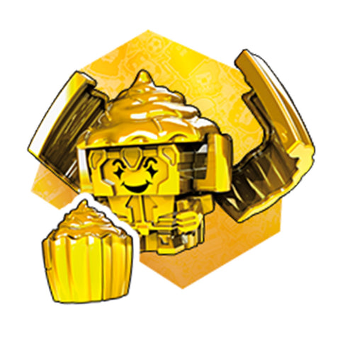 Transformers Botbots Series 4 Winner's Circle Goldsferatu Gold Cupcake Render