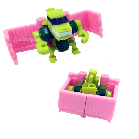 Transformers Botbots Series 5 Home Rangers Reptilin' Sleepstylin' pink crib robot toy