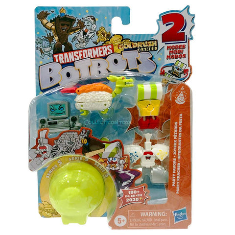 Transformers Botbots Series 5 Party Favors 5-pack #1 43 packaging box front collecticon Toys