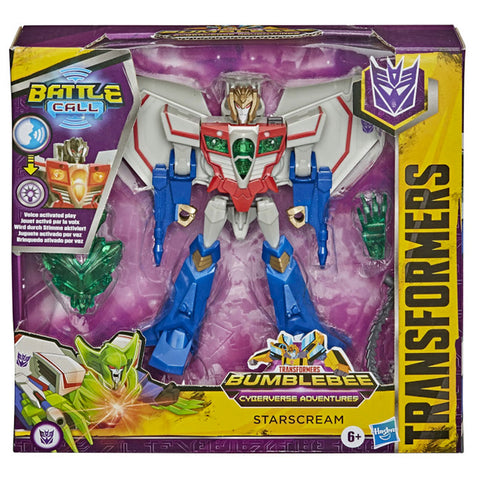 Transformers Cyberverse Adventures Battle Call Trooper Starscream Box Package Front