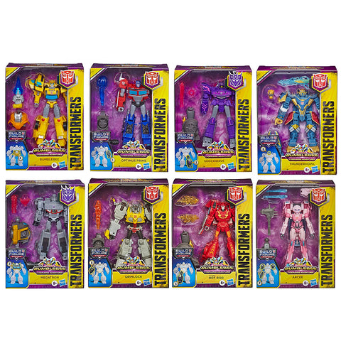 Transformers Cyberverse Adventures deluxe complete set of 8 box package front bundle