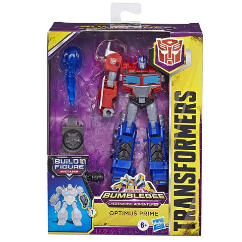 Transformers Cyberverse Adventures Deluxe Optimus Prime Front Box Package
