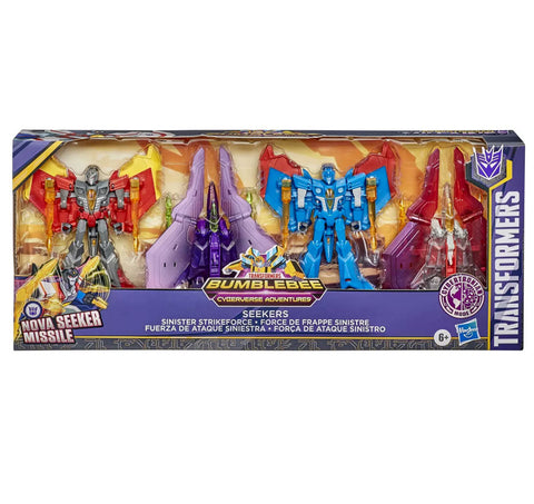 Transformers Cyberverse Adventures Seekers Sinister Strikeforce 4pack giftset box package front