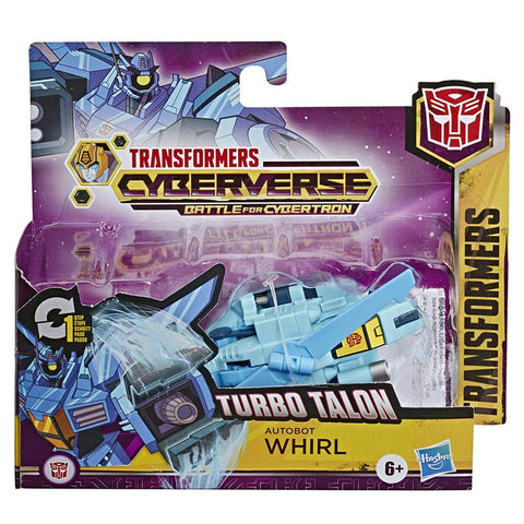 Transformers Cyberverse Adventures Turbo Talon Whirl one step changer Box Package