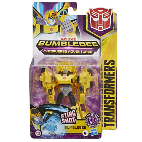Transformers Cyberverse Adventures Warrior Bumblebee Cybertronian Mode Box Package