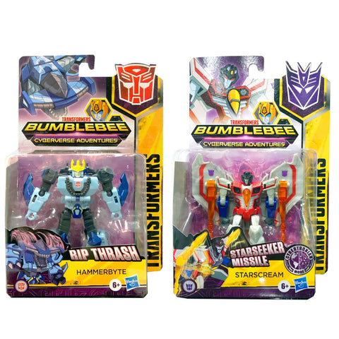 Transformers Cyberverse Adventures Warrior Hammerbyte & Starscream - 2 Figure Bundle