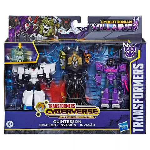 Transformers Cyberverse Battle for Cybertron Quintesson Invasion Giftset Box Package Target flipped