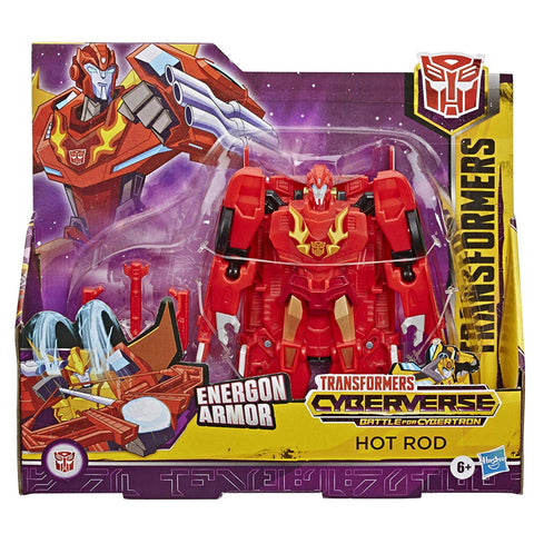 Transformers Cyberverse Battle for Cybertron Ultra Class Energon Armor Hot Rod Box Package