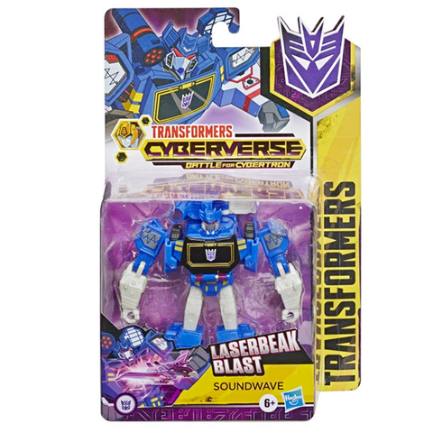 Transformers Cyberverse Battle for Cybertron Warrior Soundwave Box Package Front
