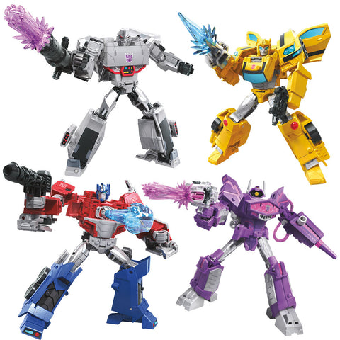 Transformers Cyberverse Deluxe Wave 1 bundle of four figures Render