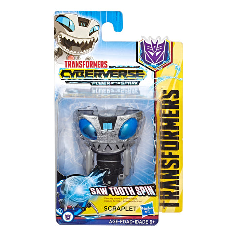 Transformers Cyberverse Scout Class Saw Tooth Spin Scraplet Box Package