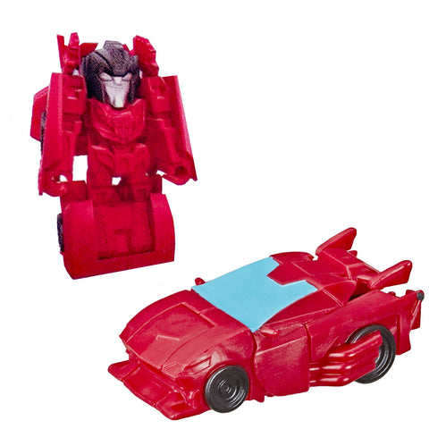 Transformers Cyberverse Tiny Turbo Changers Series 2 Sideswipe Red Car Toy