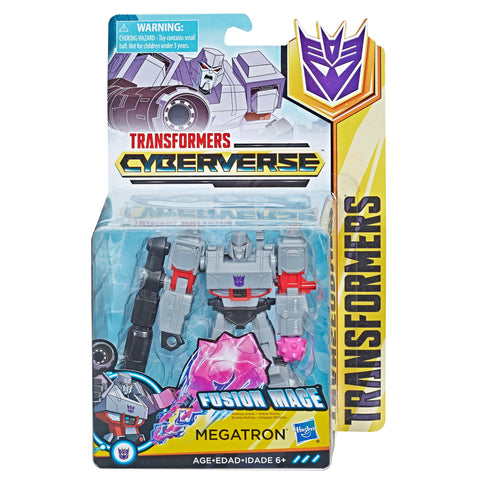 Transformers Cyberverse Warrior Class Fusion Mace Megatron Box Packaging