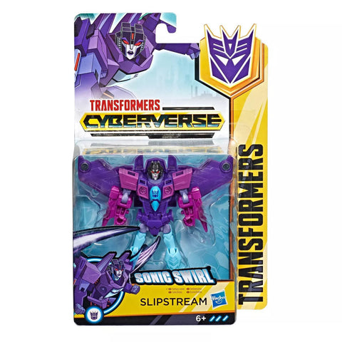 Transformers Cyberverse Warrior Class Slipstream sonic swirl box package