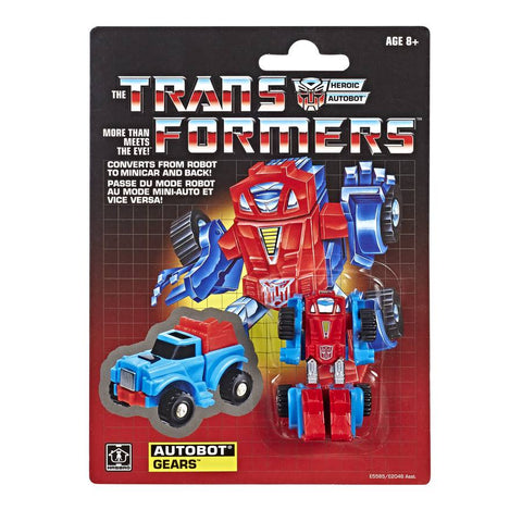 Transformers Generation 1 Vintage Reissue Minibot Gears Walmart exclusive package card