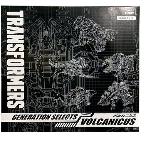 Transformers Generations Selects Dinobot Volcanicus Combiner Japan TakaraTomy Mall Giftset Combiner Box Package black sleeve