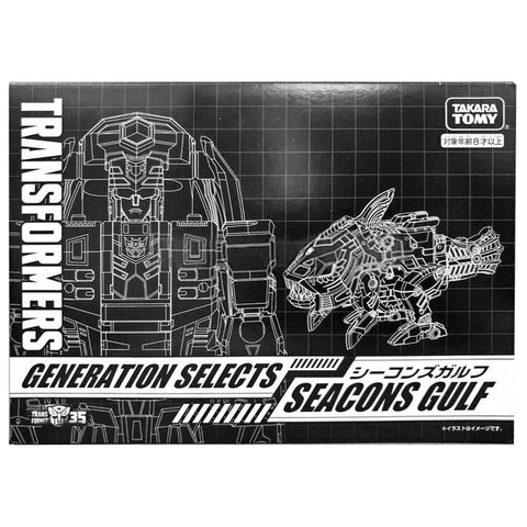 Transformers Generations Selects Seacon Gulf Skalor Deluxe Japan TakaraTomy Black sleeve box Front
