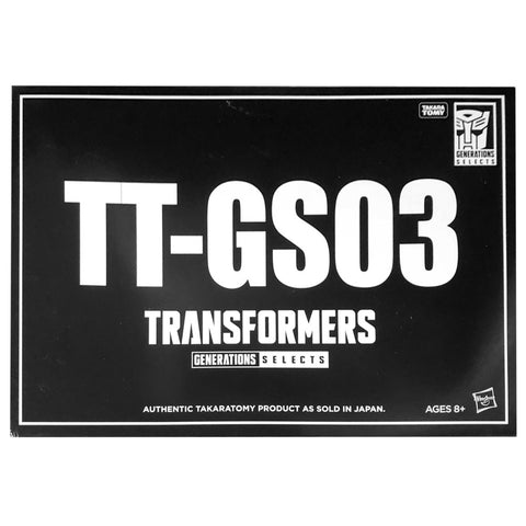Transformers Generations Selects Japan TT-GS03 Voyager Snaptrap Turtler USA Hasbro Box Black Sleeve Packaging front