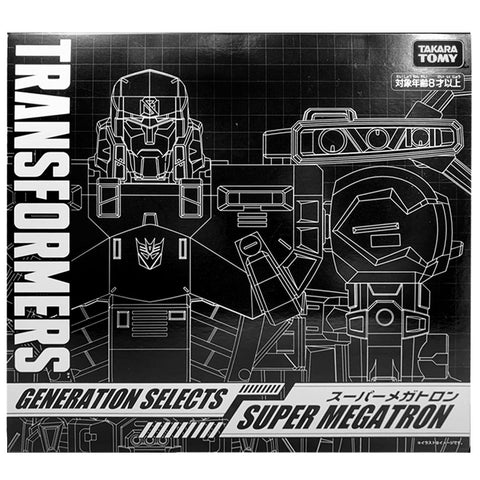 Transformers Generations Selects TakaraTomy Mall Japan Super Megatron Ultra Battlestars box package black sleeve front