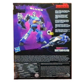 Transformers Generations Shattered Glass Blurr Deluxe Box Package back