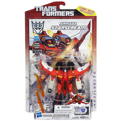 Transformers Generations Thrilling 30 Deluxe Armada Starscream Box Package Front USA Hasbro