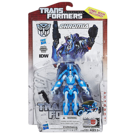 Transformers Generations Thrilling 30 Deluxe Chromia Box Package Hasbro USA Front