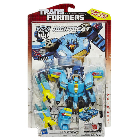 Transformers Generations Thrilling 30 Deluxe Nightbeat Box Package Front Hasbro USA