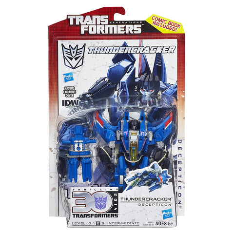 Transformers Generations Thrilling 30 Deluxe Thundercracker Box package Front Hasbro USA