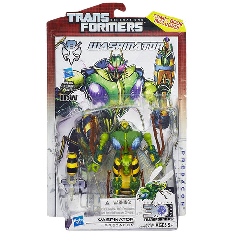 Transformers Generations Thrilling 30 Deluxe Waspinator Box Package Front Hasbro USA