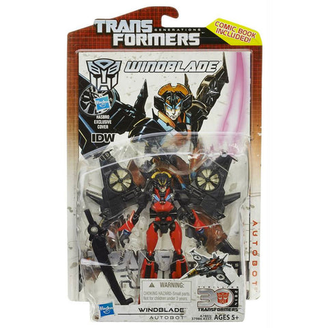 Transformers Generations Thrilling 30 Deluxe Windblade Box Pacakge Front Hasbro USA