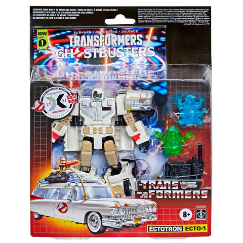 Transformers Ghostbusters Afterline Crossover Ectotron Target Exclusive box package front