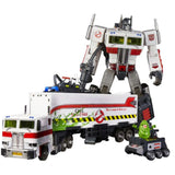 Transformers Masterpiece MP-10G Optimus Prime Ecto-35 Edition Trailer Alt mode and toy