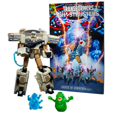 Transformers Ghostbusters Afterline Crossover Ectotron Target Exclusive robot toy accessories comicbook