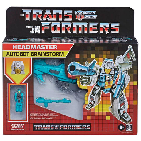 Transformers Headmaster Brainstorm Titans Return Retro G1 Deco reissue walmart exclusive box package front