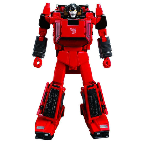 Transformers Masterpiece MP-39+ Spinout Red Diaclone Sunstreaker Robot Toy Standing Front Japan TakaraTomy