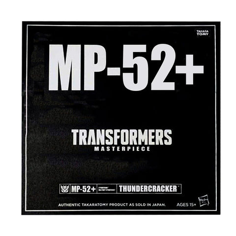 Transformers Masterpiece MP-52+ Plus Thundercracker Hasbro USA Box Package Black Seleve Render Mockup
