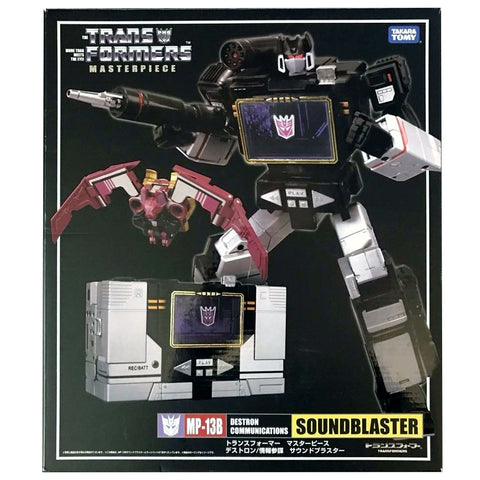 Transformers Masterpiece MP-13B Soundblaster Black Soundwave Box Package Front Japan TakaraTomy